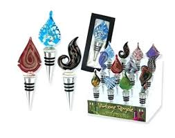 glass wine bottle stoppers uk vintage royal handcrafted art stopper