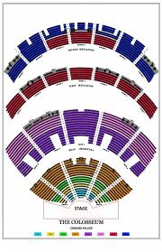 Colosseum Seating Chart Colored Final The Colosseum At