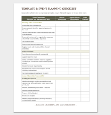 Event Planning Checklist Pdf Event To Do List Template 40 Checklists In Word Excel Pdf