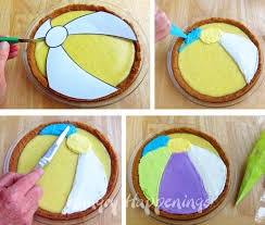 Beach Ball Decoration Ideas Decorate Pie To Look Like A Beach Ball Beach Themed Dessert 59