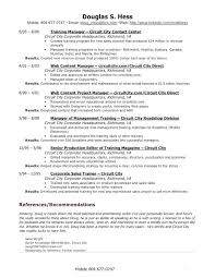 Download Our Sample Of Old Fashioned Training Manager Resume Example