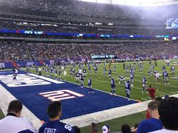 Ny Giants Seating Chart With Rows Breakdown Of The Metlife Stadium Seating Chart New York