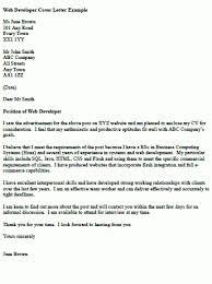 Writing Cover Letter For Java Developer Web Developer Cover Letter