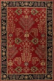 classic arts and crafts red black wool area rug rosewood spires