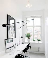 white office design. Home Office Decor / White Modern Space Interior Design N