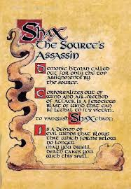 book of shadows shax the source s