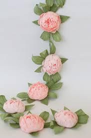 Paper Flower Garland Bridal Garland Wedding Garland Paper Flower Garland Peonies