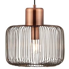 hanging ceiling pendant light antique copper wire shade modern lamp bulb holder