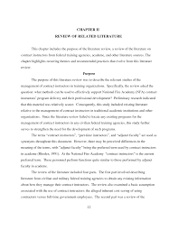 how to write a literature review thesis statement