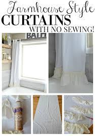 No Sew Curtains No Sew Farmhouse Curtains Little Vintage Nest