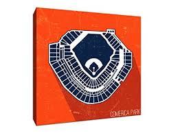 Amazon Com Comerica Park Seating Map Baseball Seating Map
