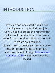 Good Resume Examples New How to create good resume resume examples ppt video online download