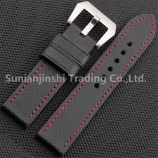<b>Handmade</b> 20 22 <b>24 26mm</b> Black Vintage Men Carbon Fiber ...