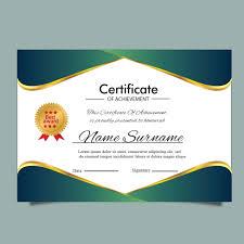 Gold Certificate Template For Diploma Award Or Multipurpose
