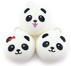 whole 10cm cute cartoon face squishy panda buns panda bag key mobile phone straps pendant chain cellphone hot with 4 17 piece on