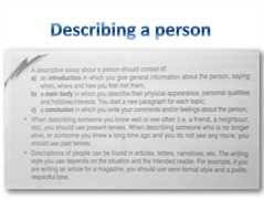 write an essay describing a person writing a descriptive essay tip sheet butte college