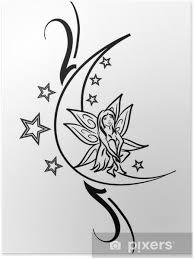 Plakát Fairy Tetování Na Měsíci