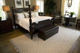 dark bedroom furniture. this impressive master bedroom features an extremely deep brown four post bed leather chest bench dark furniture s