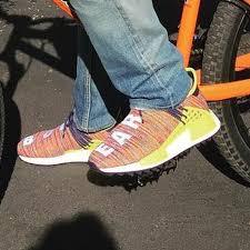chanel x pharrell adidas. chanel x pharrell williams adidas human race nmd shoe collab