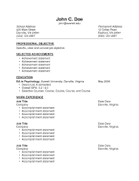 Resume Examples With Accomplishment Statements New Resume