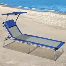 portable beach lounge chair with adjule uv protected canopy just got this for