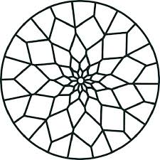 Geometric Coloring Pages For Kids 2 Geometrical Adults To Print