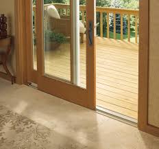 low profile sill of a sliding patio door