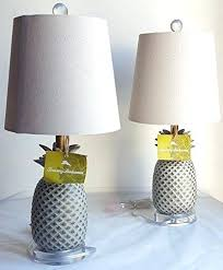 tommy bahama lighting 2 pineapple fruit table lamps with natural linen shades tommy bahama lightweight mens