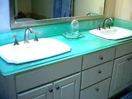 crushed glass countertop misc crushed glass contemporary bathroom
