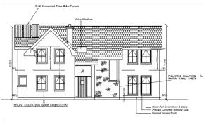 House self build Timber frame planning permission elevation