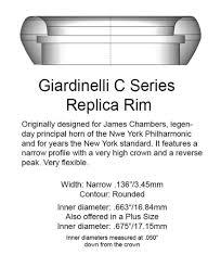 Giardinelli Trumpet Mouthpiece Comparison Chart Giardinelli Replica Rim