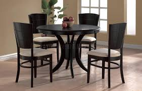 espresso round dining table in awesome finish modern w optional chairs idea 14