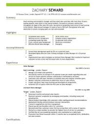 Successful Cv Layout Sales Manager Cv Template Cv Samples Examples
