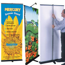 Retractable Display Stands Foster Mercury Banner Stand Retractable Office Zone 26