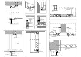 glass wall systems details dwg cad blocks free