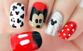 Disney Mickey Mouse Nail Tutorial | Mickey nails, Mickey mouse nail art, Mickey  mouse nails