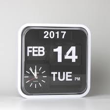 ech retro modern 12 calendar auto flip desk wall clock