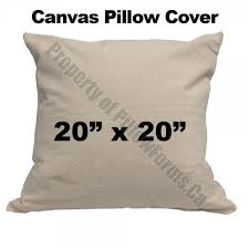 Canvas Pillow cover ...