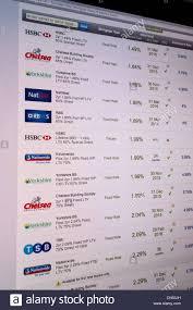 Mortgage Rate Comparison Website Stock Photo 64673465 Alamy