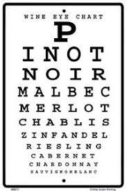 Details About Wine Eye Chart Sign New 10 X 15 Pinot Noir Merlot Chablis Zinfandel