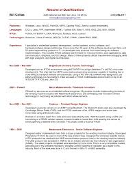 Examples Of Summary Of Qualifications For Resume Job Resume