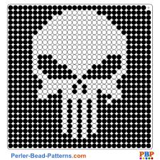 Bead Patterns Interesting Punisher Perler Bead Pattern And Designs Bead Sprites Printable PDF
