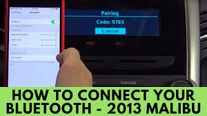 2013 Chevrolet Malibu: How to Connect Bluetooth - YouTube