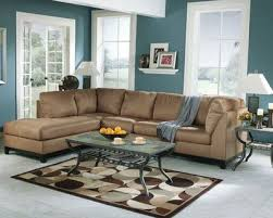 wall paint with brown furniture. The Wall Color Could Be A Nice Accent To Brighten Up Brown Couch. Sweet Masculine In And Blue Living Room Paint With Furniture P