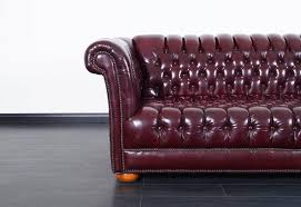 vintage burdy leather chesterfield sofa in excellent condition for in burbank ca