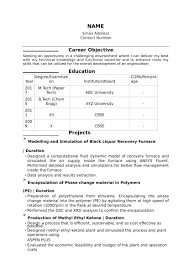Sample Resumes For Freshers Engineers 32 Resume Templates For Freshers Download Free Word Format