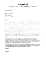 Management Consulted Cover Letter Good Resumes Examples