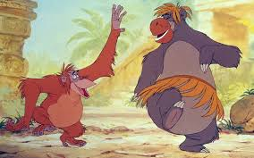 king louie and baloo in the jungle book