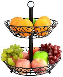amazoncom surpahs tier countertop fruit basket stand kitchen