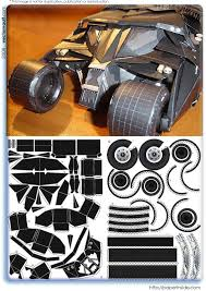 papercraft vectorvault your imagination is the combination batmobile batman tumbler paper origami papercraft dark knight joker